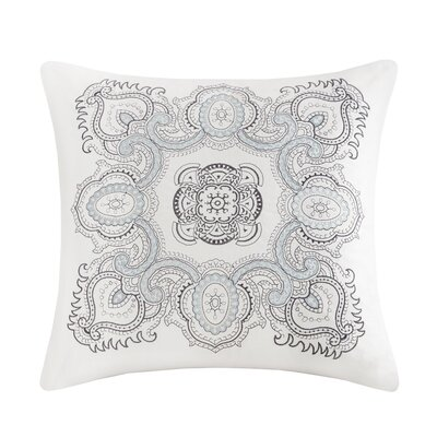 Larissa Embroidered Cotton Throw Pillow