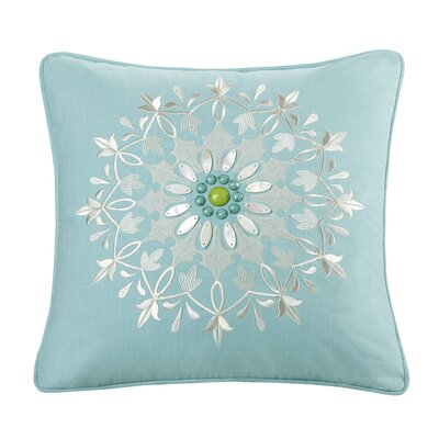 Sardinia 100% Cotton Throw Pillow Color: Aqua