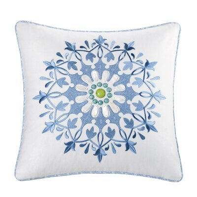 Sardinia Cotton Throw Pillow Color: White