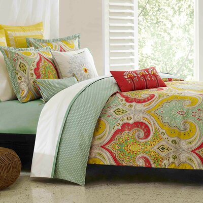 Jaipur Reversible Duvet Cover Set Size: Twin