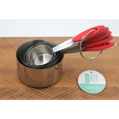 5 Piece Stainless Steel Measuring Cup Set WT-2402