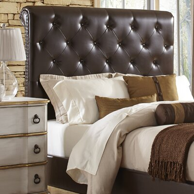 Upholstered Sleigh Headboard Size: King