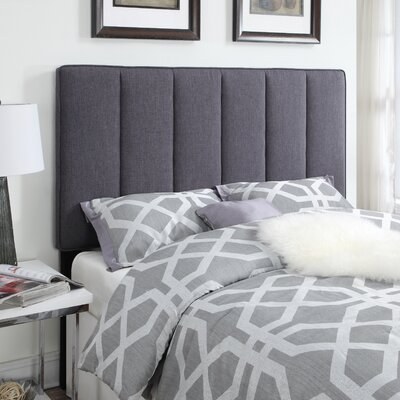 Pettiford Upholstered Panel Headboard Size: Queen, Upholstery: Hayden Grey