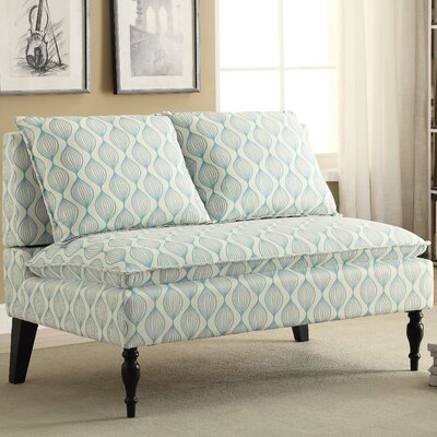 Upholstered Graphic Print Banquette Sofa