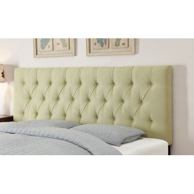 Upholstered Panel Headboard Size: Full / Queen, Upholstery: Tuxedo Lime