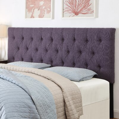 Upholstered Panel Headboard Size: Full / Queen, Upholstery: Stallion Purple