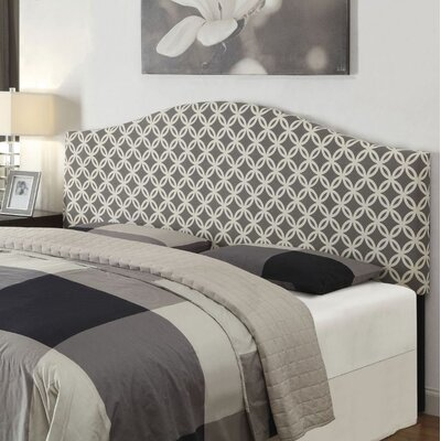 Geometric Upholstered Panel Headboard Size: Full/Queen, Upholstery: Nopon Gray
