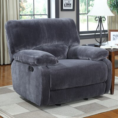 Walcott Recliner Upholstery: Gray, Type: Power Recline