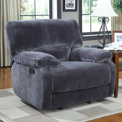 Walcott Recliner Upholstery: Gray, Type: Manual Recline