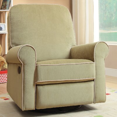 Ashewick Swivel and Glider Recliner Upholstery: Green