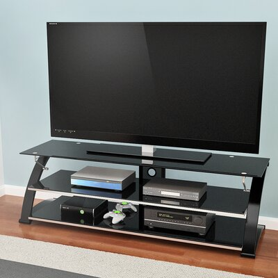 Rielan 55-67 TV Stand Width of TV Stand: 23 H x 67 W x 24 D
