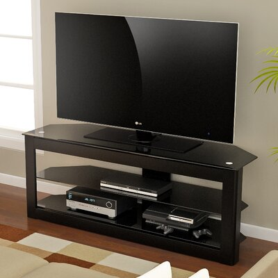 Maxine 40-55 TV Stand Width of TV Stand: 22 H x 55 W x 19 D