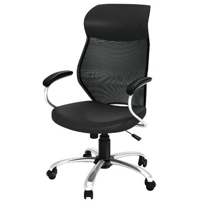 Z-line Designs High-Back Mesh Task Chair with Arms - Color: Black