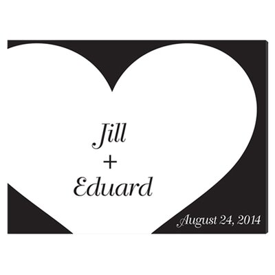 Personalized Gift Signature Shadow of Love Graphic Art on Canvas