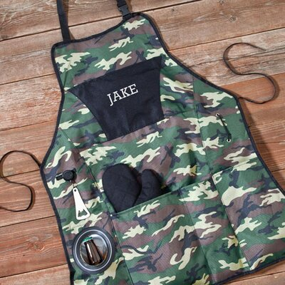 "Personalized Gift Camouflage ""Grillmaster Plus"" Apron"