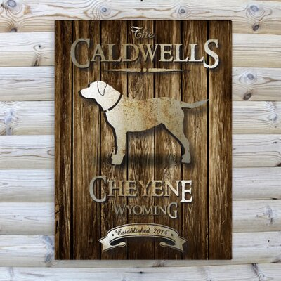 Personalized Gift Cabin Textual Art on Canvas