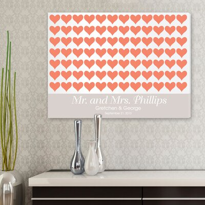 Personalized Gift For The Love of Hearts Graphic Art on Canvas