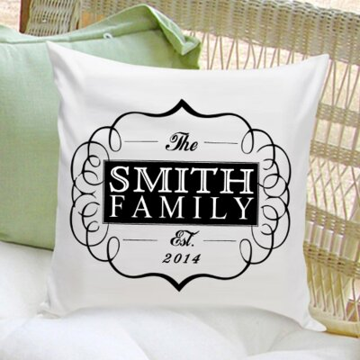 Personalized Gift Family II Cotton Throw Pillow