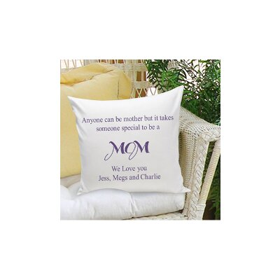 Personalized Gift Parent Cotton Throw Pillow Color: Blue