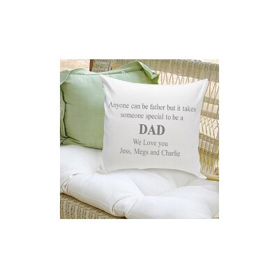 Personalized Gift Parent Cotton Throw Pillow Color: Grey
