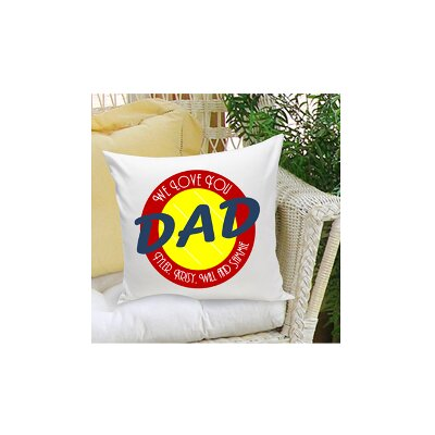Personalized Gift Parent Cotton Throw Pillow