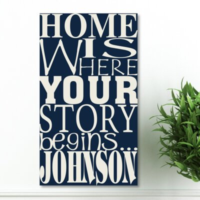 Personalized Gift Where Our Story Begins Textual Art on Canvas