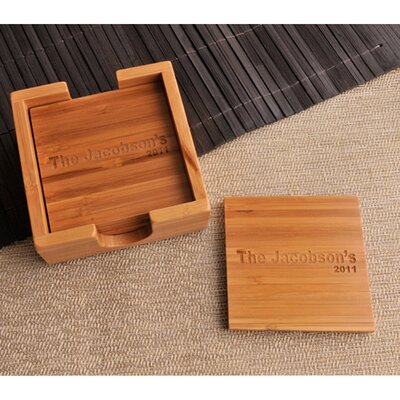 Personalized Gift Bamboo Coaster