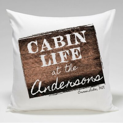 Personalized Cabin Life Throw Pillow