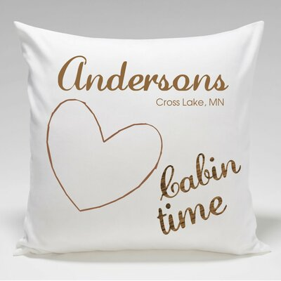 Personalized Cabin Heart Throw Pillow