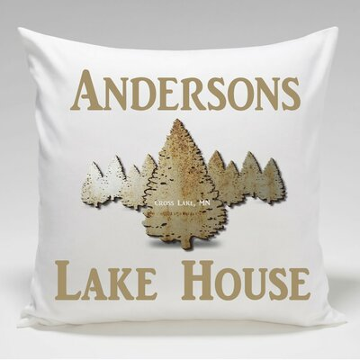 Personalized Cabin Spruce Throw Pillow