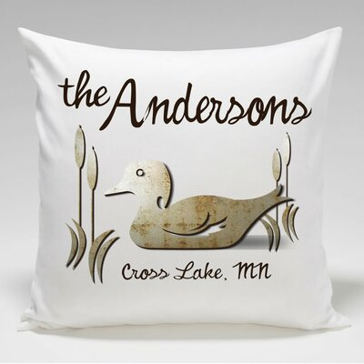 Personalized Cabin WoodDuck Throw Pillow