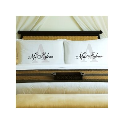 Couples Initial Pillow Case