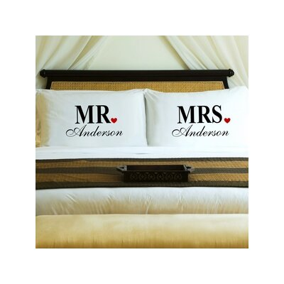Mr. and Mrs. Couples Pillow Case