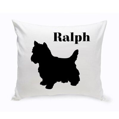 Personalized Yorkshire Terrier Classic Silhouette Throw Pillow