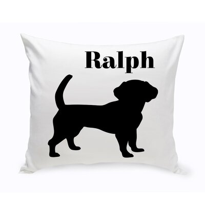 Personalized Beagle Classic Silhouette Throw Pillow