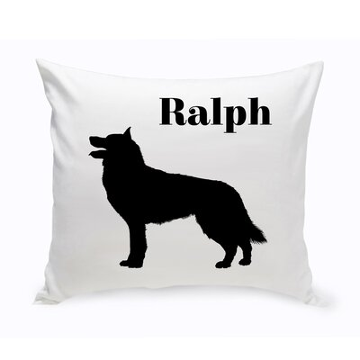Personalized Collie Classic Silhouette Throw Pillow