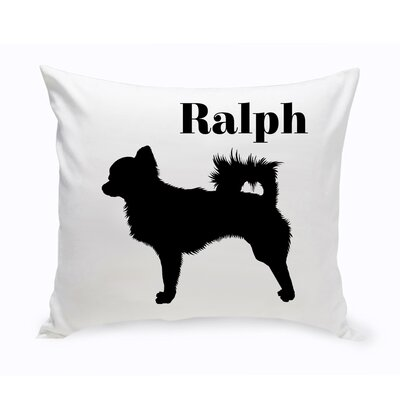 Personalized Chihuahua Classic Silhouette Throw Pillow