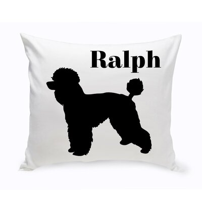Personalized Toy Poodle Classic Silhouette Throw Pillow