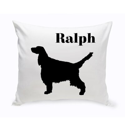 Personalized English Springer Spaniel Classic Silhouette Throw Pillow
