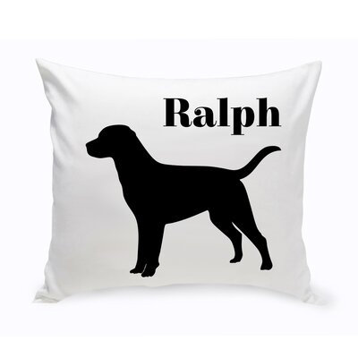 Personalized Labrador Classic Silhouette Throw Pillow