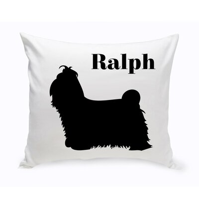 Personalized Shih Tzu Classic Silhouette Throw Pillow