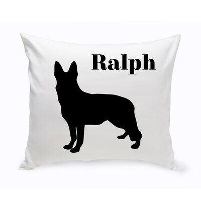 Personalized German Shepherd Classic Silhouette Throw Pillow