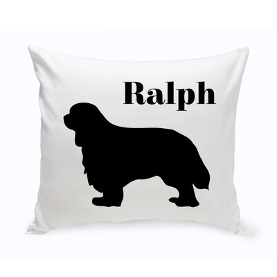 Personalized Cavalier King Charles Spaniel Classic Silhouette Throw Pillow