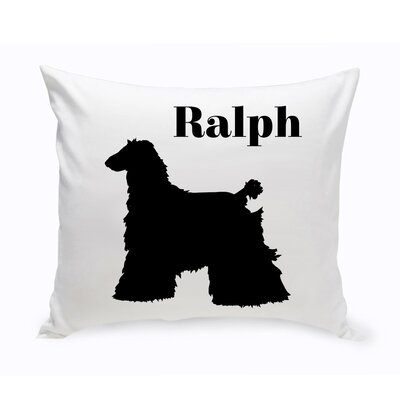 Personalized Afghan Hound Classic Silhouette Throw Pillow