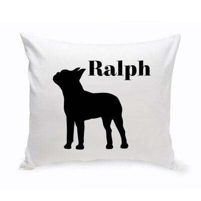 Personalized Boston Terrier Classic Silhouette Throw Pillow
