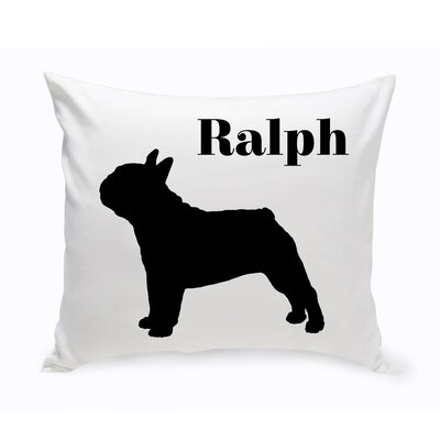 Personalized French Bulldog Classic Silhouette Throw Pillow
