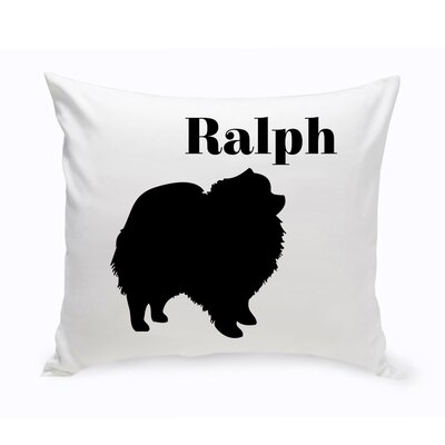 Personalized Pomeranian Classic Silhouette Throw Pillow
