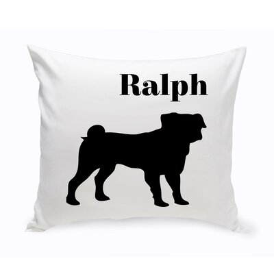 Personalized Pug Classic Silhouette Throw Pillow