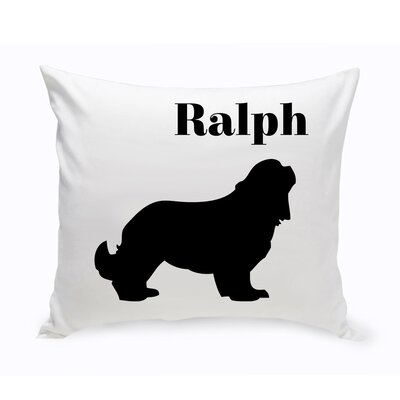Personalized Cocker Spaniel Classic Silhouette Throw Pillow