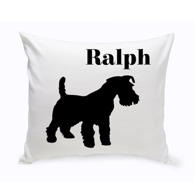 Personalized Scottish Terrier Classic Silhouette Throw Pillow